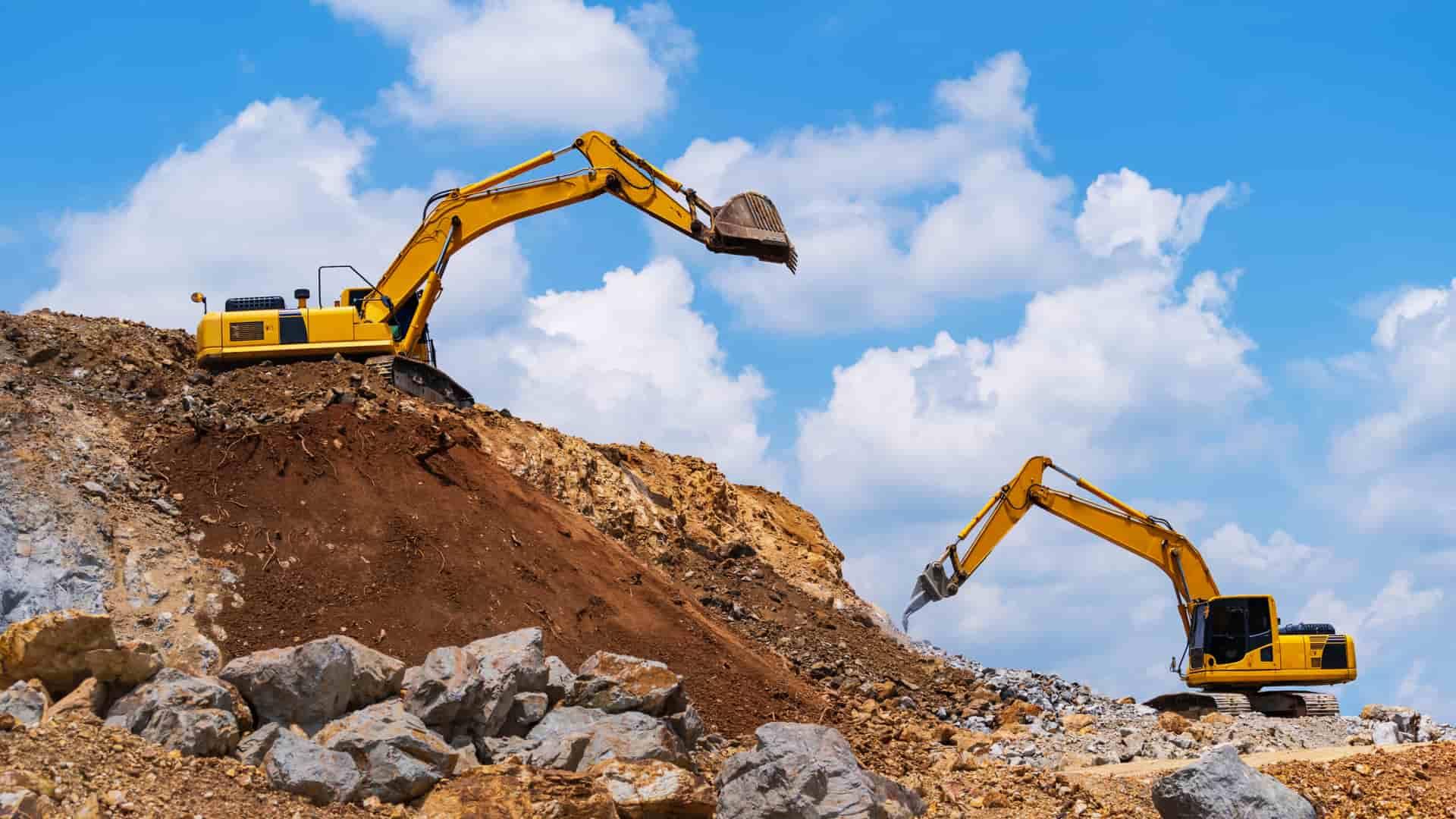 ¿Qué tipos de maquinaria de construcción se pueden comprar o alquilar?