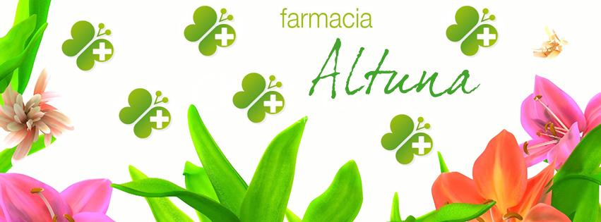Buscanos en Facebook (Farmaciaaltuna.com) y en Twitter @farmaciaaltuna