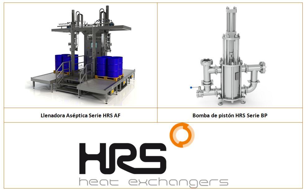 Llenadora Aséptica HRS Serie AF y Bomba de pistón HRS Serie BP