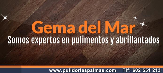 Logo GEMA DEL MAR Pulidor de suelos Las Palmas